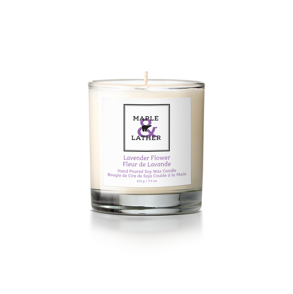 Lavender Flower Soy Candle