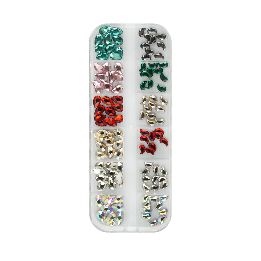 Small Rhinestone Box - MCL-1210-08 - Colorful-Big