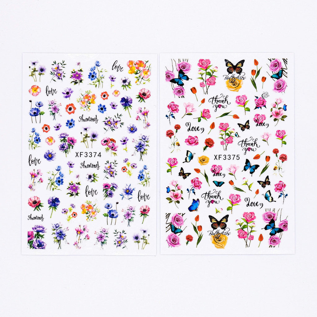 Religion Nail Supply Flower Stickers