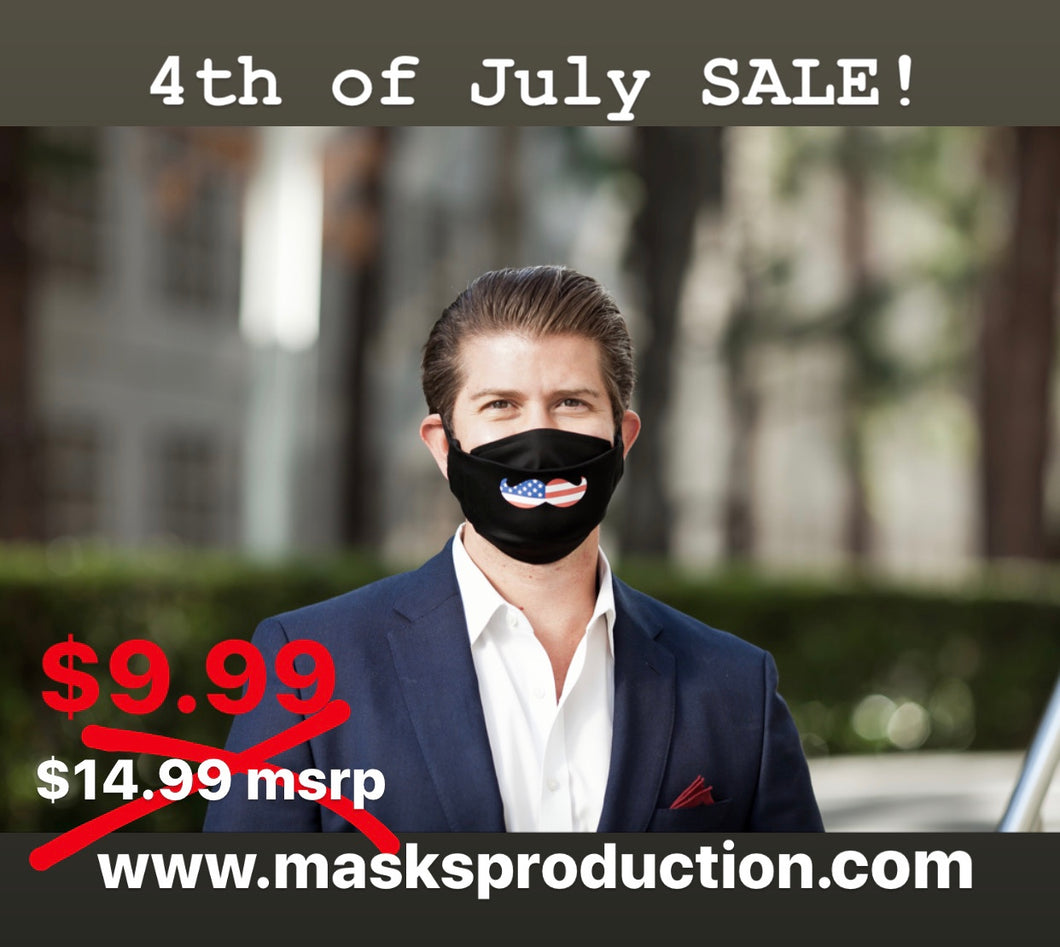 US Flag Mustache 3D Face Mask