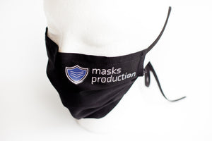 * Pleated Face Mask w/ Adjustable Straps, Removable Nose Bridge, and Filter Pocket