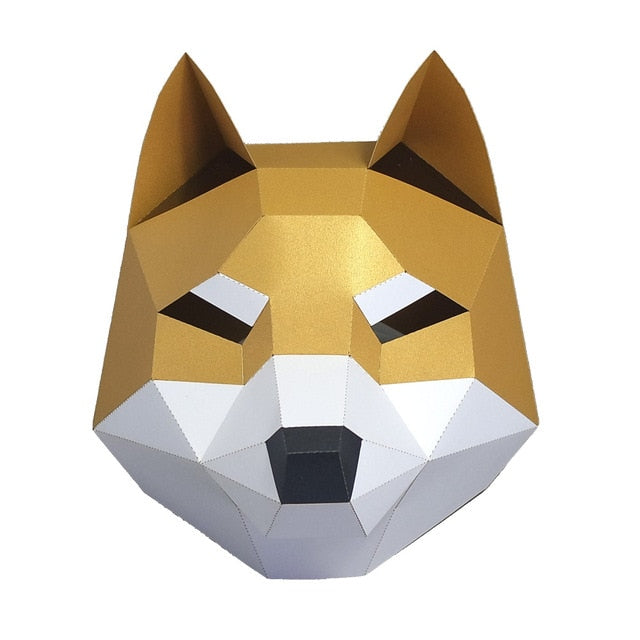 Epic Pomeranian 3D face mask