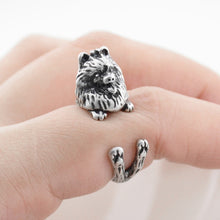 Load image into Gallery viewer, Cute wrap-around Pomeranian ring