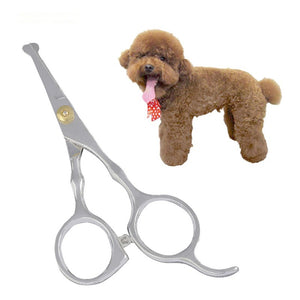 Rounded tip grooming scissors