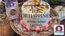Load and play video in Gallery viewer, Atle's Whisky Salted Caramels featuring 12 year Single Malt Scotch topped with Isle of Skye Sea Salt
