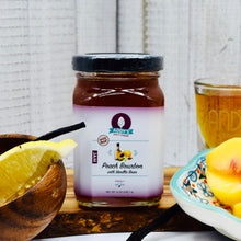 Load image into Gallery viewer, Addy's Peach Bourbon Vanilla Bean Jam - limited batched