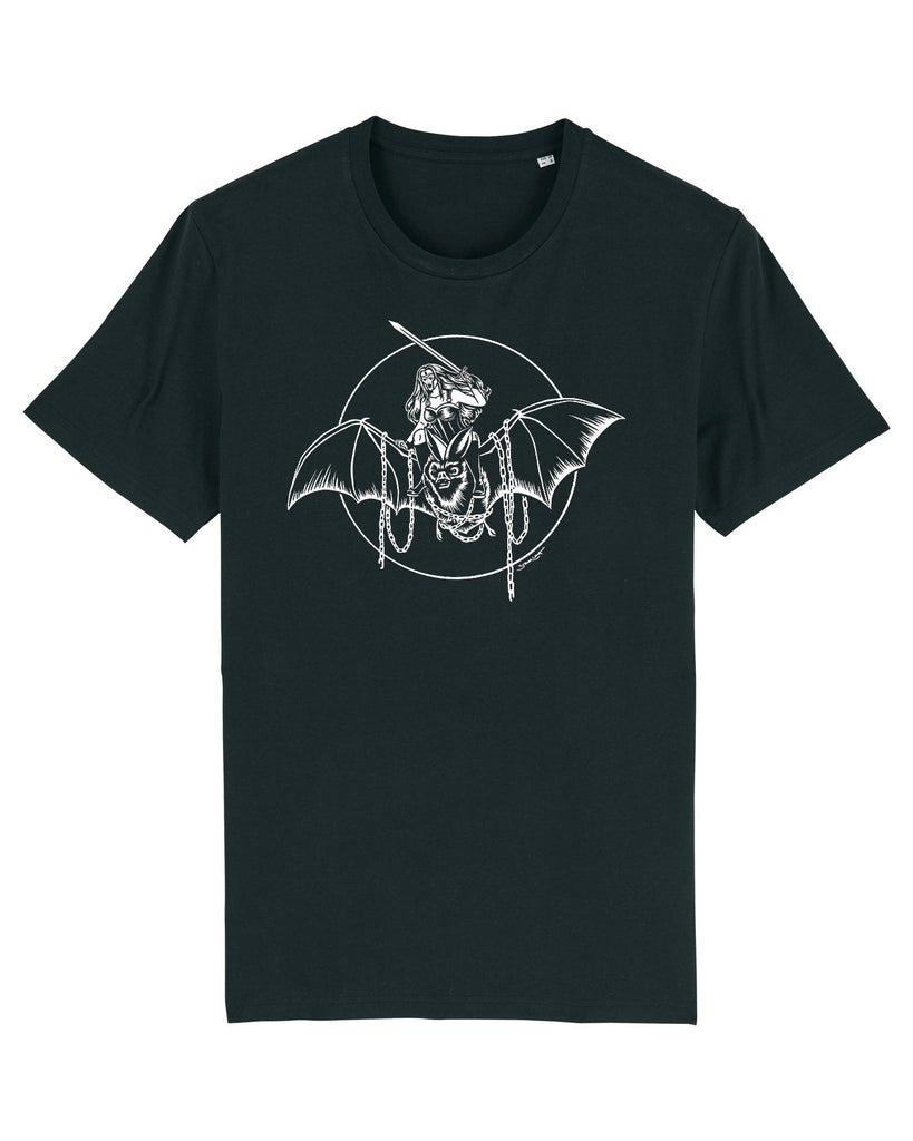 Bat Queen Black Tee by Stellar Leuna