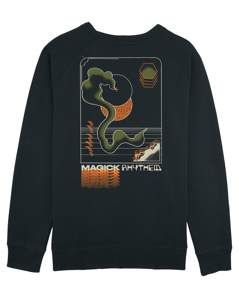 Magick Rhythem, Sweatshirt (Black) - Patrick Savile by Illustrated Mind