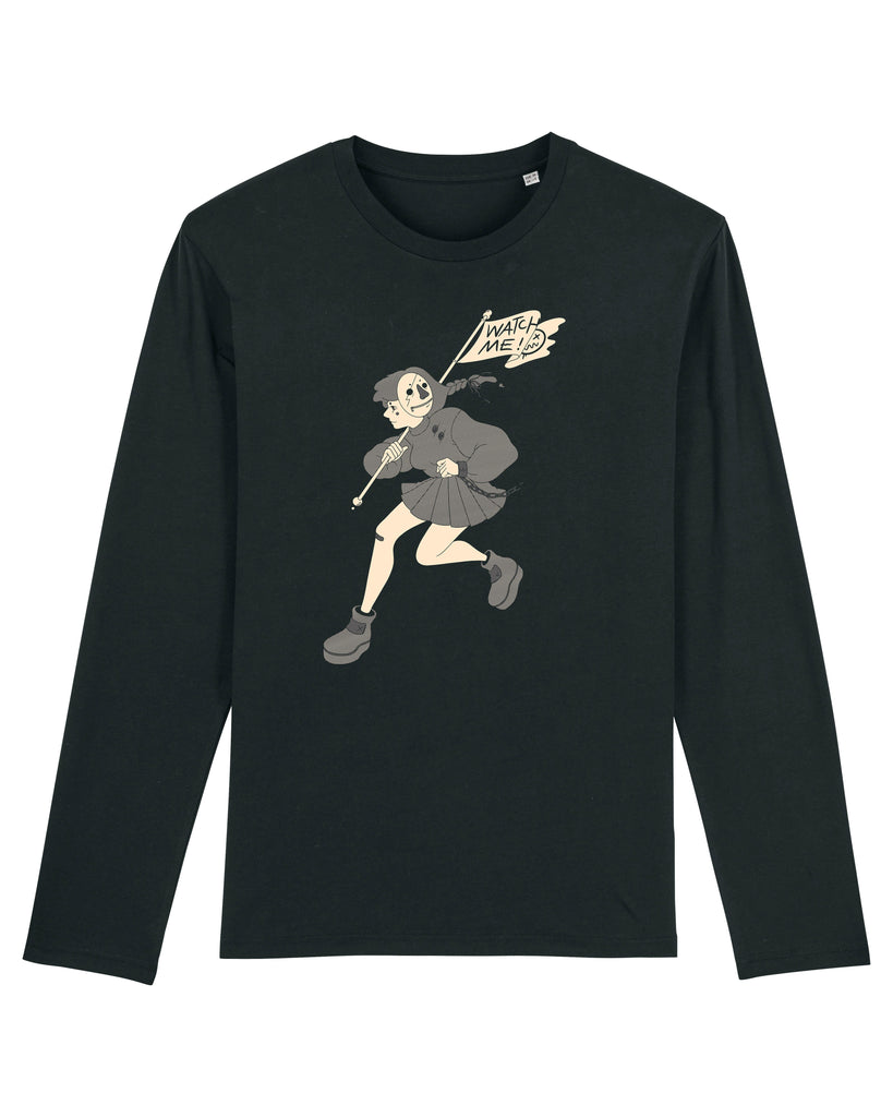 Watch Me, Longsleeve - Lili Tae - The Illustrated Mind