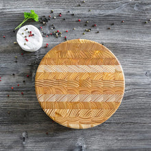 Load image into Gallery viewer, Larch End Grain - Round Cheese Board