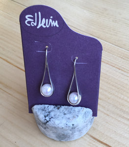 Ed Levin Pearl Drop Earrings