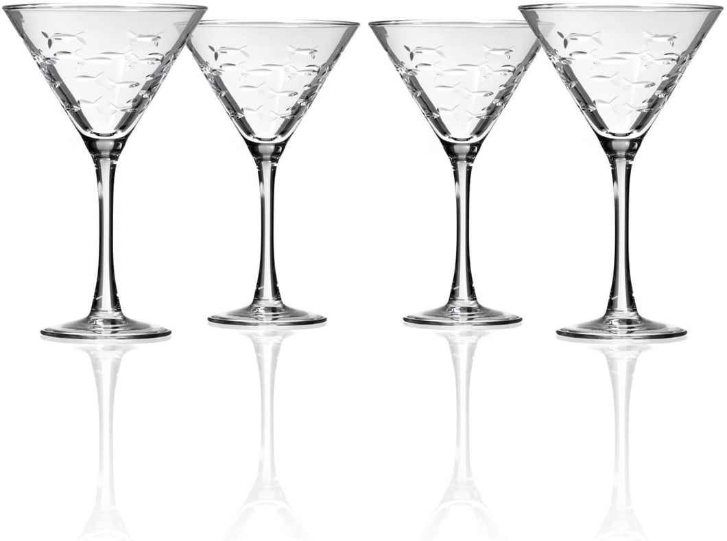 Fish Martini Glasses - set of 4 (or more!)