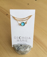 Load image into Gallery viewer, Georgia Marie Kara Choker - Blue Topaz