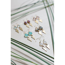 Load image into Gallery viewer, Georgia Marie Point Earring - Blue Topaz