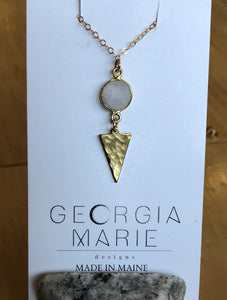 Georgia Marie Point Necklace - Moonstone