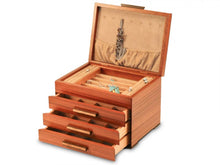Load image into Gallery viewer, Craftsman Jewelry Box - 3 Drawer