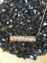 Load image into Gallery viewer, Michelle Pressler Grey Diamond Bar Necklace