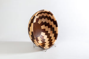 Coppola Segmented Bowl: Walnut & Maple