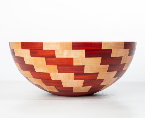Coppola Segmented Bowl: Padauk & Maple