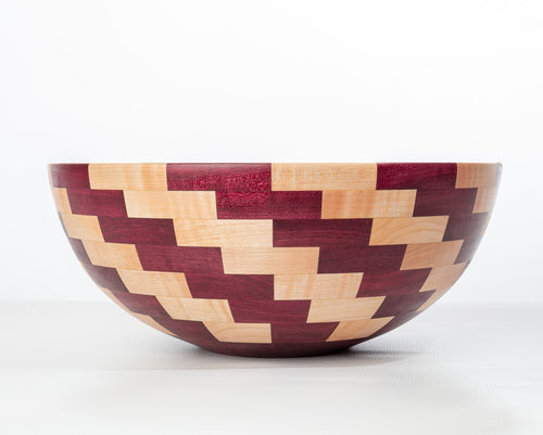 Coppola Segmented Bowl: Purple Heart & Maple