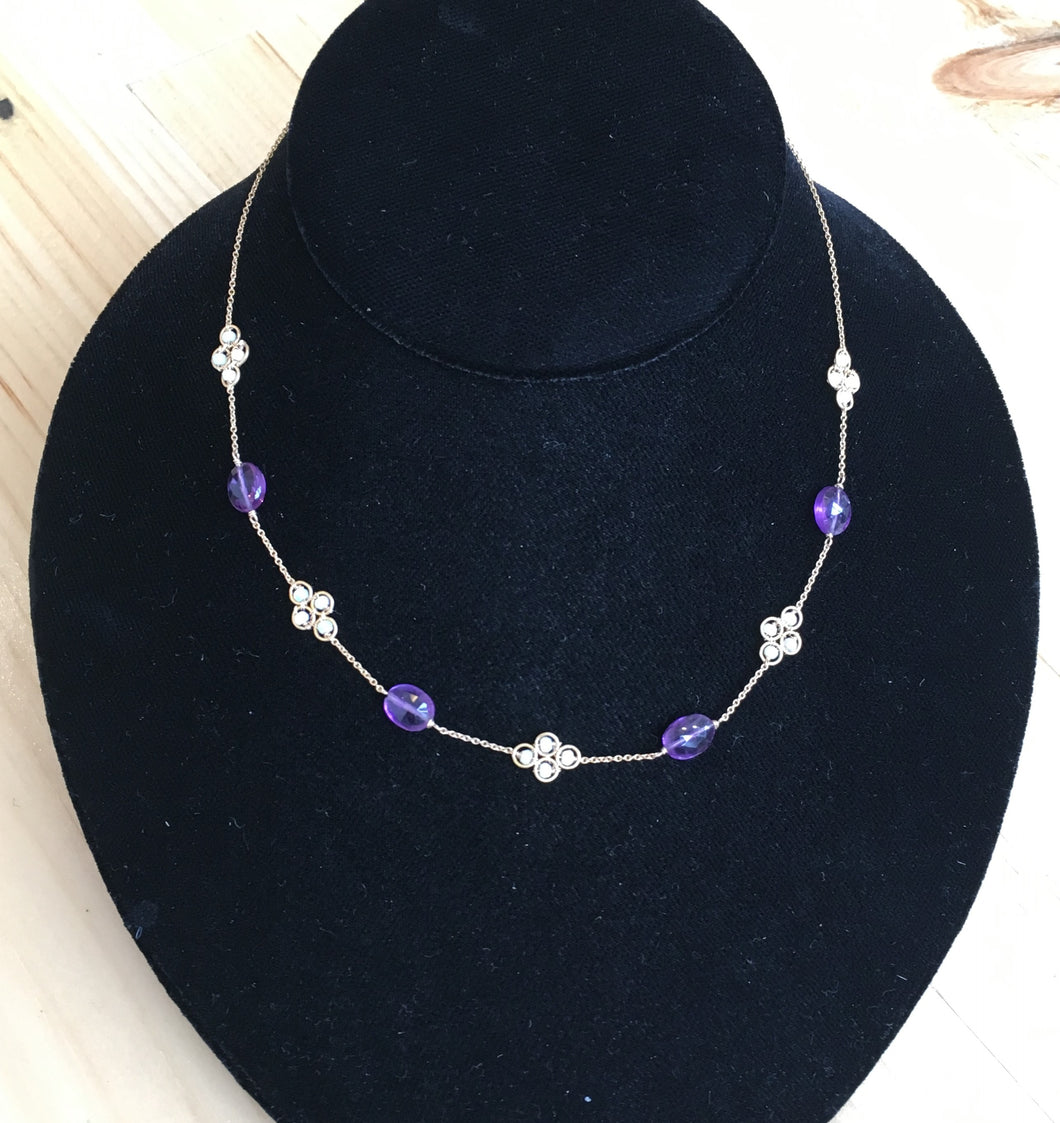Michelle Pressler Opal & Amethyst Necklace