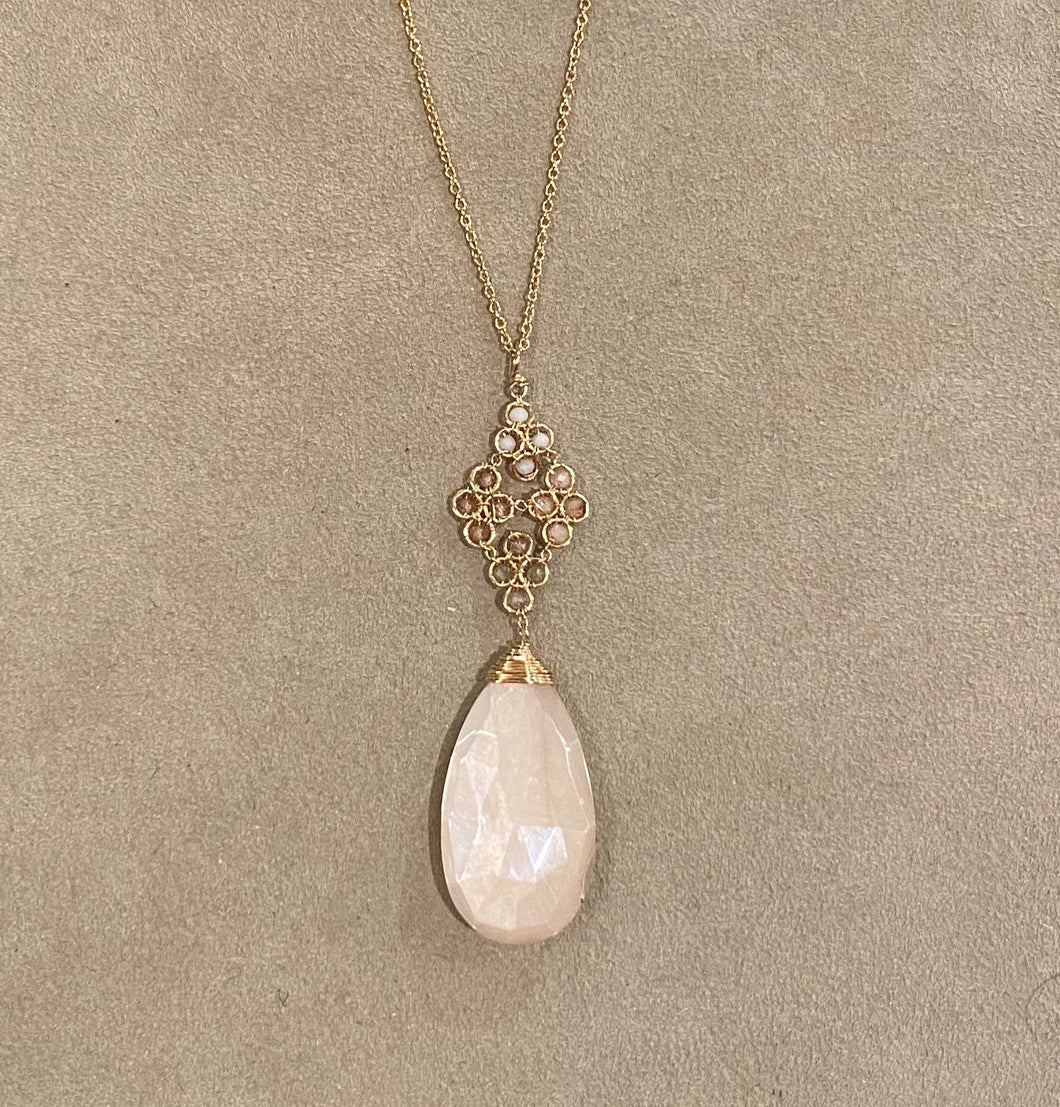 Michelle Pressler Moonstone Necklace
