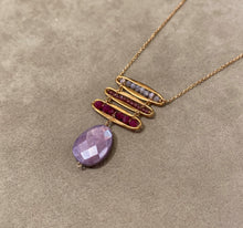 Load image into Gallery viewer, Michelle Pressler Bar Trio Necklace