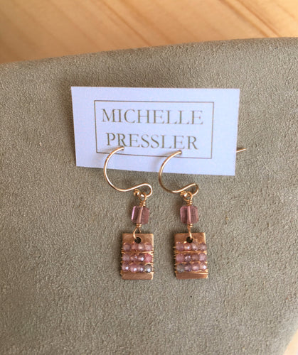 Michelle Pressler Pink Topaz Earrings
