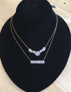 Michelle Pressler Grey Diamond Bar Necklace