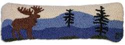 Chandler Mountain Moose Lumbar Pillow
