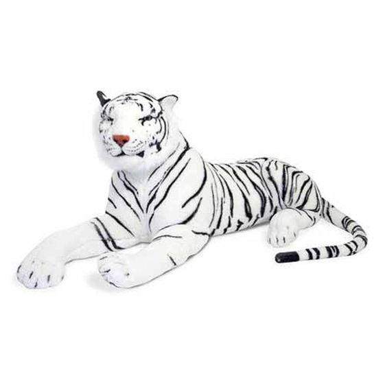 White Tiger Giant Stuffed Animal - Beautiful Bambino