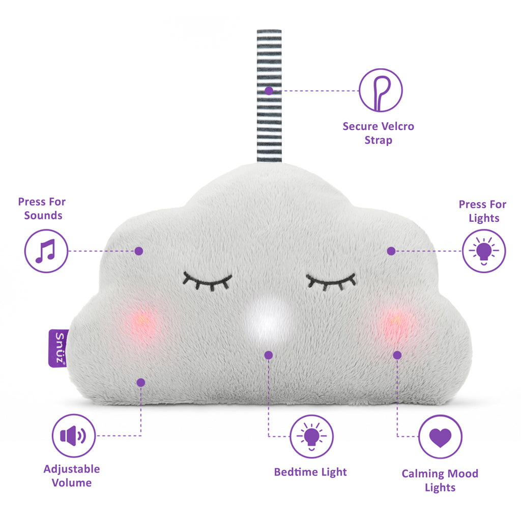 Snuz Cloud 3-in-1 Sleep Aid - Grey - Beautiful Bambino