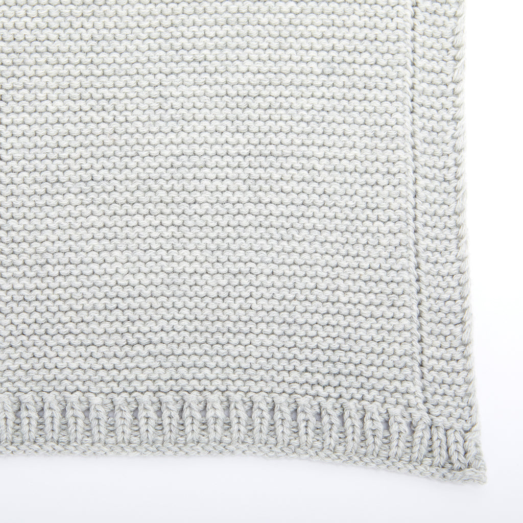 The Little Green Sheep Organic Knitted Cellular Baby Blanket - Dove - Beautiful Bambino