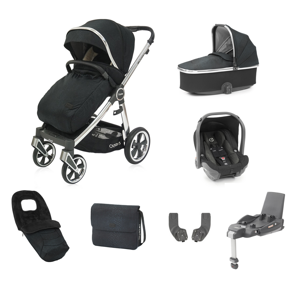Oyster 3 Luxx Special Edition Travel System Bundle - Jurassic Black