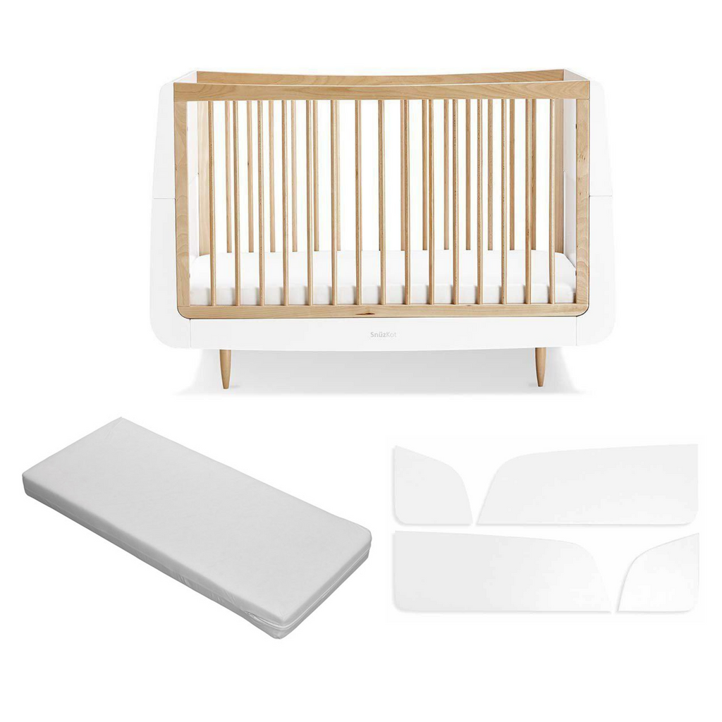 SnuzKot Skandi Cot Bed Bundle - Natural