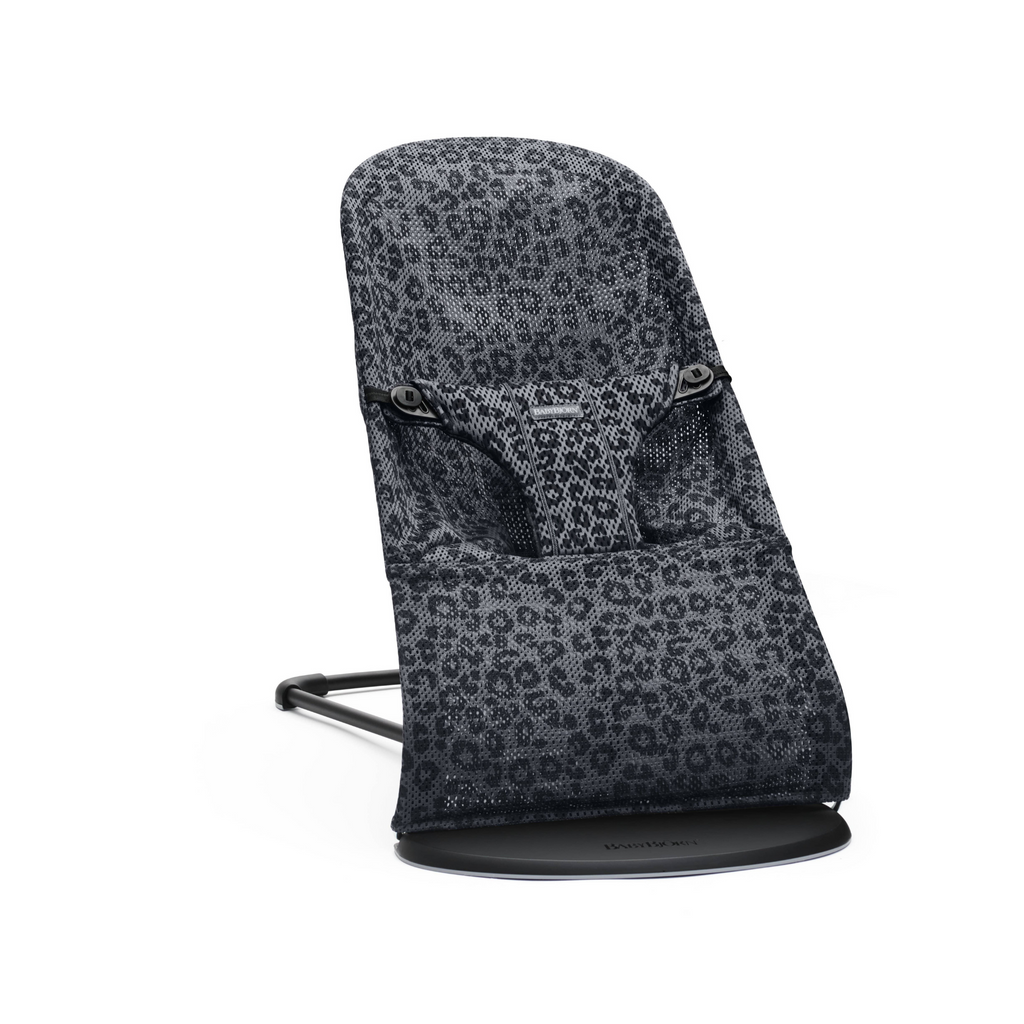 BabyBjorn Mesh Bouncer Bliss - Anthracite/Leopard
