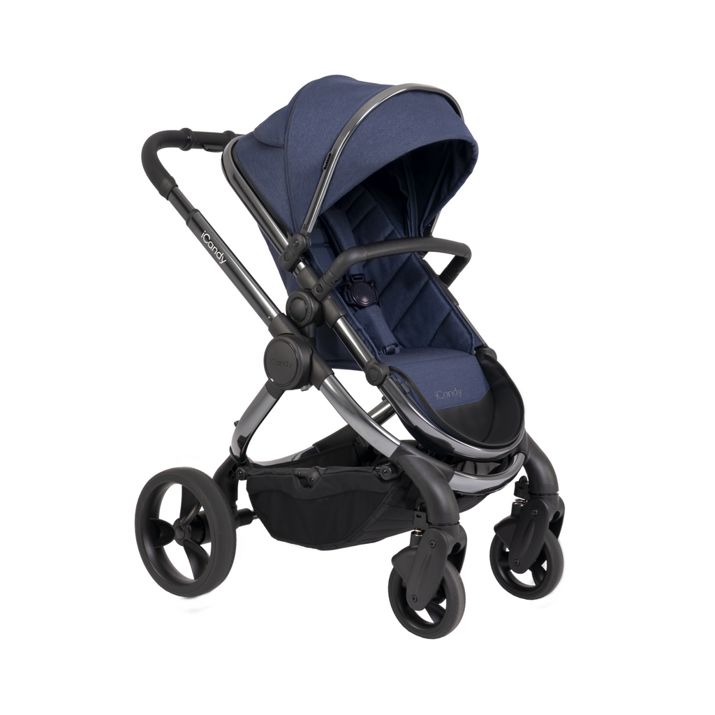 iCandy Peach Pushchair and Carrycot - Phantom Navy Twill