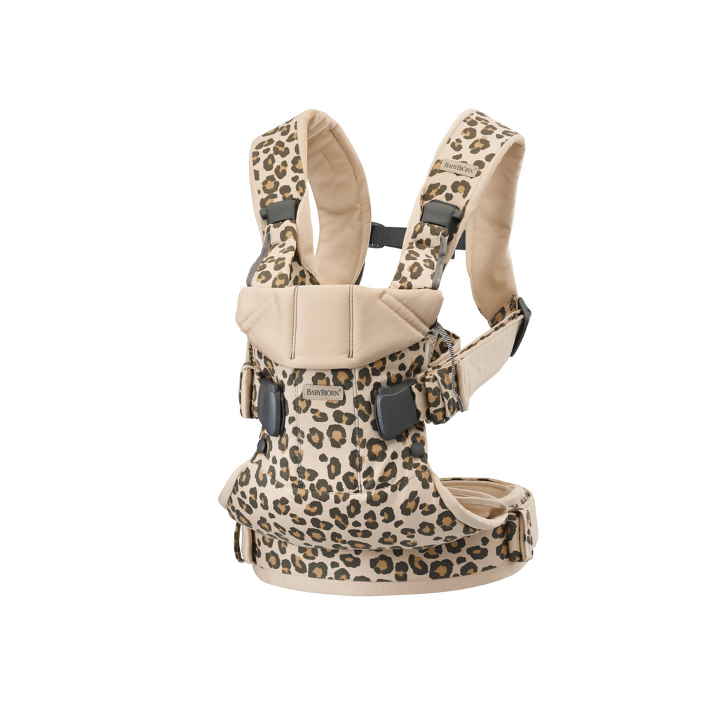 BabyBjorn Cotton Baby Carrier One - Beige/Leopard