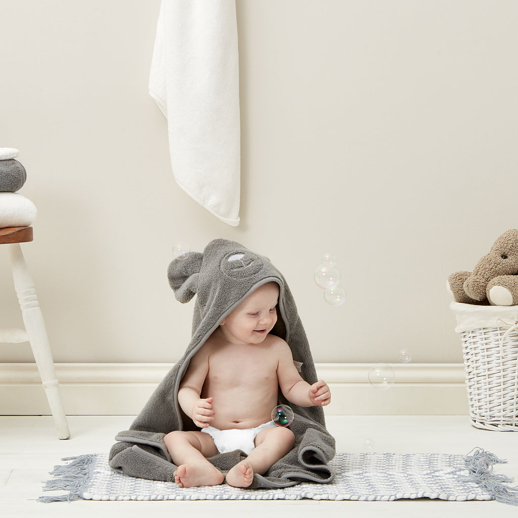 Organic Hooded Towel - Bear