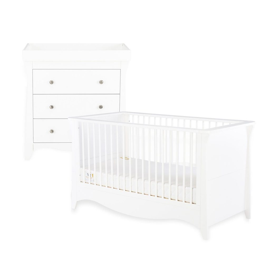 CuddleCo Clara 2 Piece Nursery Room Set - White