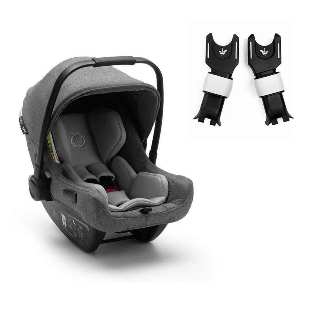 Bugaboo Turtle Air by Nuna Car Seat & Cameleon3 Adapters - Grey
