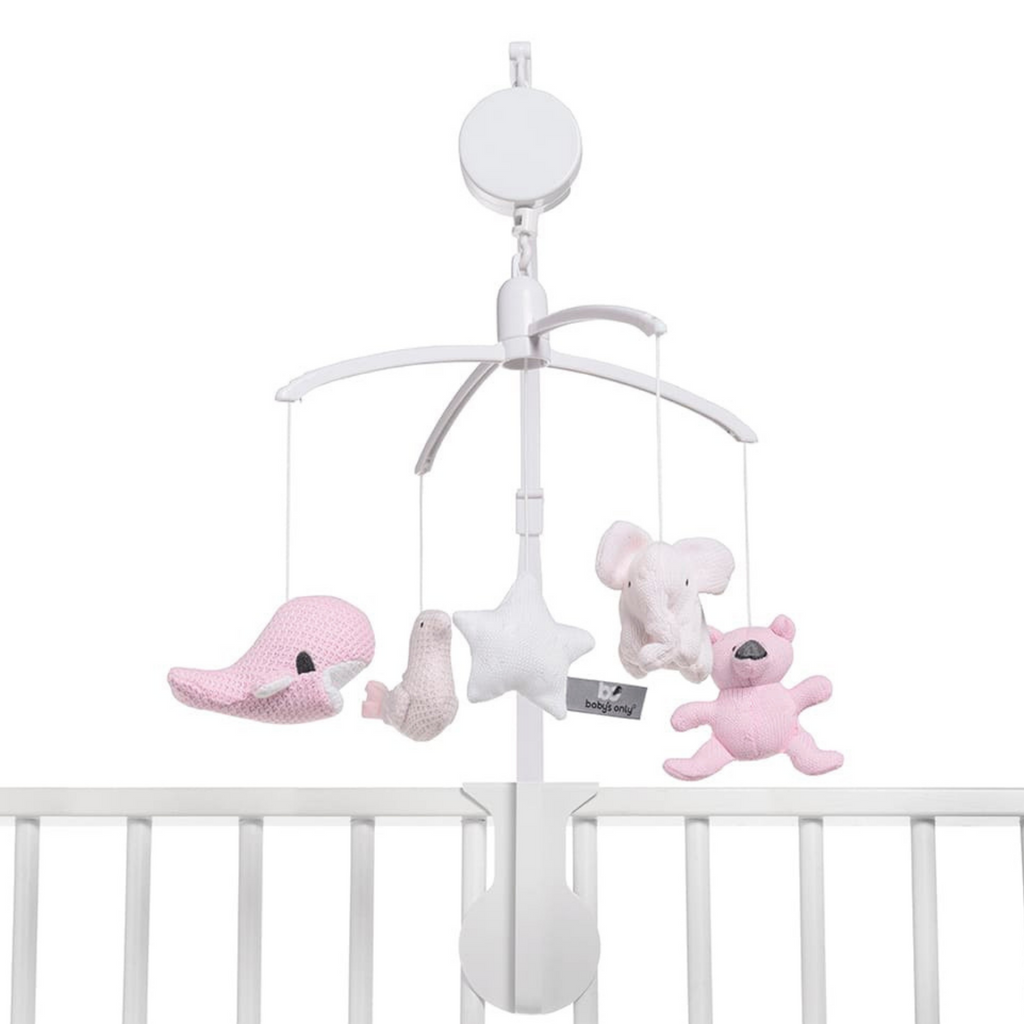 Baby's Only Musical Mobile - Classic Pink/ Baby Pink/ White