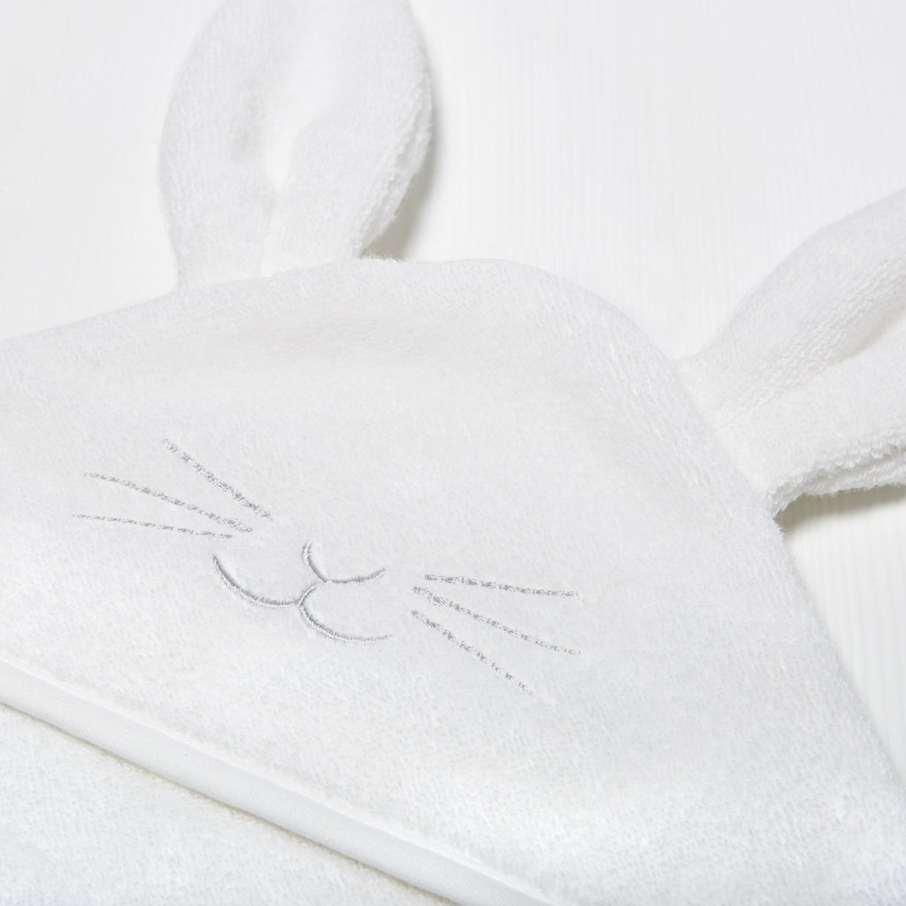 Organic Hooded Towel - Bunny - Beautiful Bambino