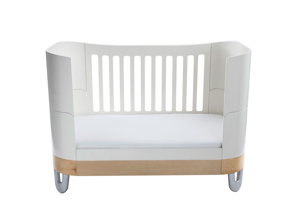 Gaia Serena Complete Sleep Baby Bed - White/Natural - Beautiful Bambino