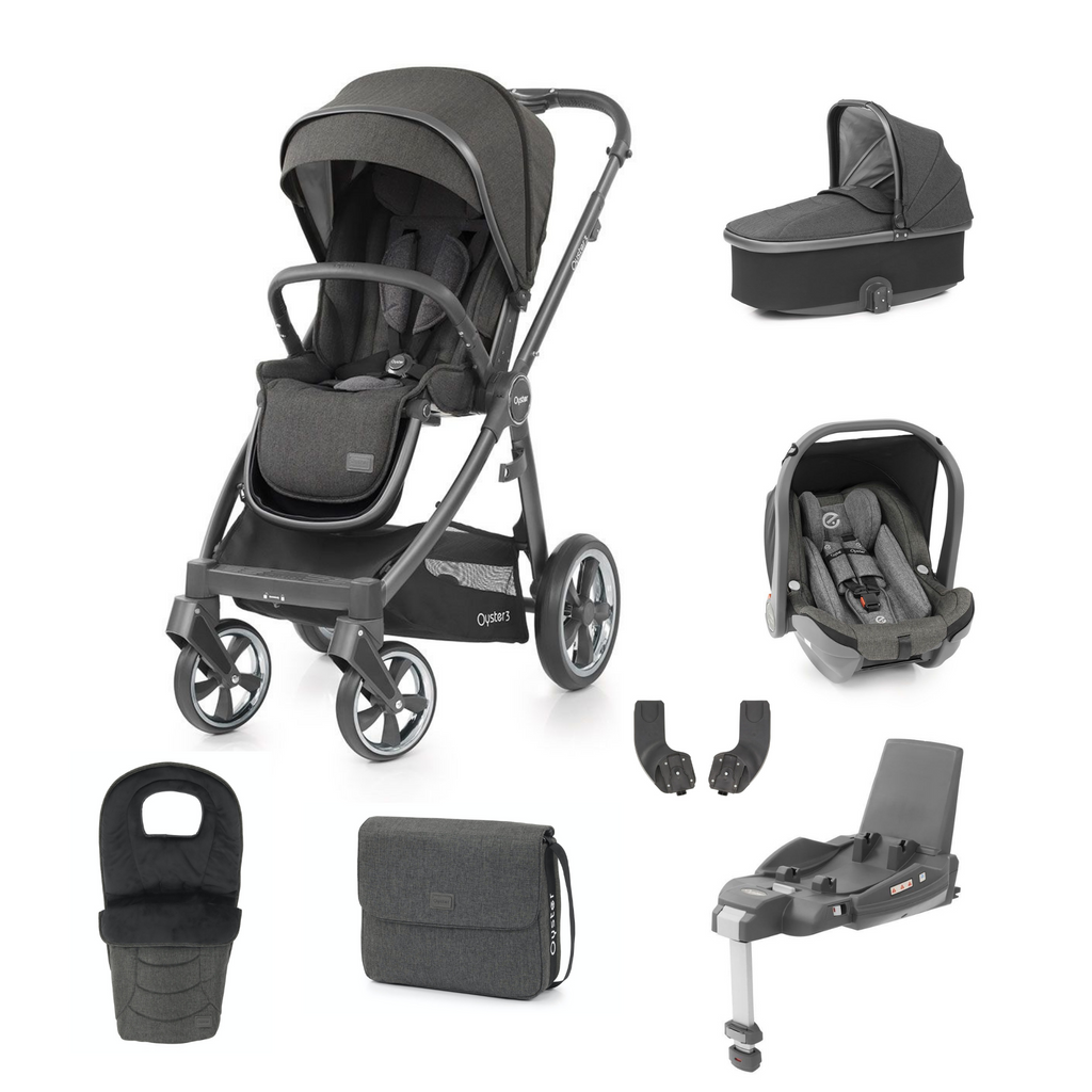 Babystyle Oyster 3 Luxury Bundle - City Grey Chassis/Pepper