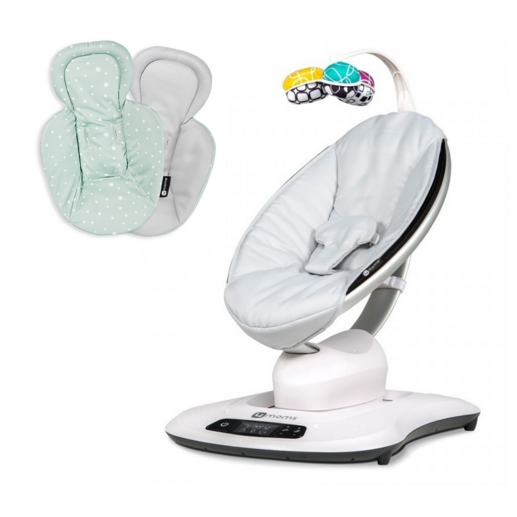 4moms mamaRoo 4.0 Rocker - Classic Grey With Newborn Insert