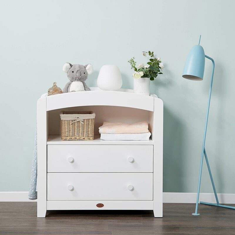 Boori Curved 2 Draw Chest - Barley White