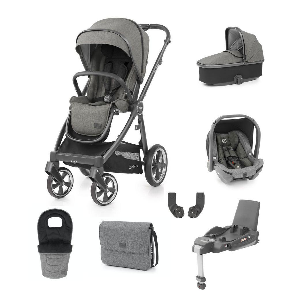 Babystyle Oyster 3 Luxury Bundle - City Grey Chassis/Mercury