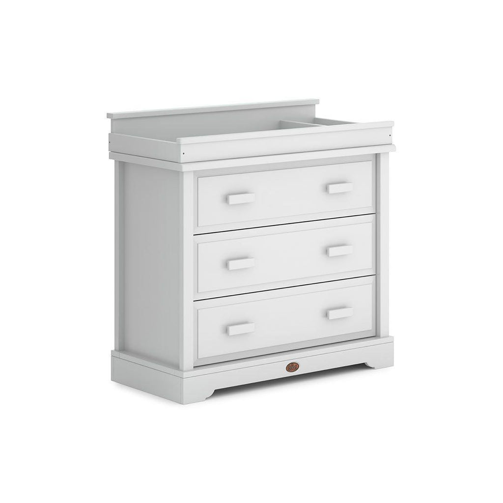 Boori Universal 3 Drawer Dresser with Squared Changing Station - Barley White