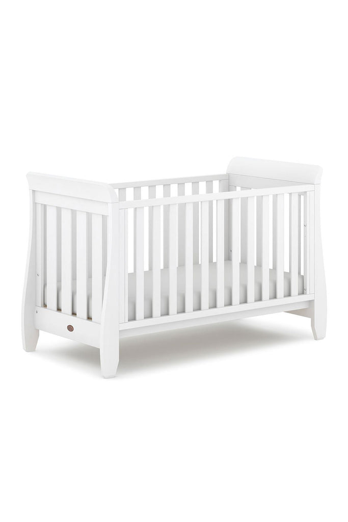 Urbane by Boori Sleigh Cot Bed - Barley White - Beautiful Bambino